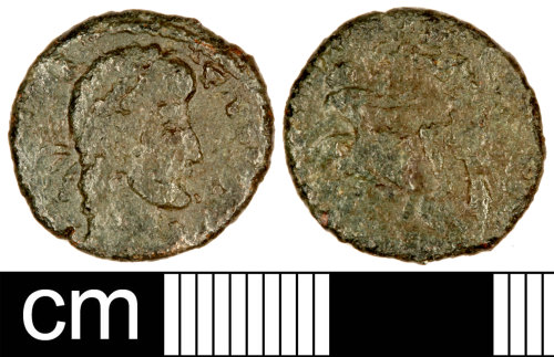 SOM-FB9300: Roman Coin: Nummus of the House of Constantine