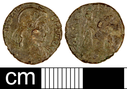 SOM-FBB5F0: Roman Coin: Nummus of Constans