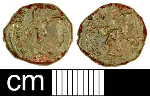 SOM-FC2598: Roman Coin: Contemporary Copy (Possibly) of a Nummus of the House of Constantine