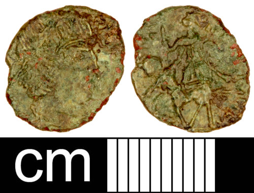 SOM-FC6211: Roman Coin: Contemporary Copy of Nummus of the House of Constantine
