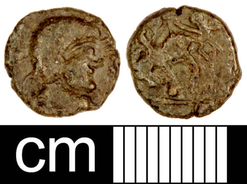 SOM-FC7682: Roman Coin: Contemporary Copy of a Nummus of the House of Constantine