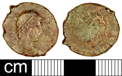 SOM-FC9B37: Roman Coin: Nummus of Valens
