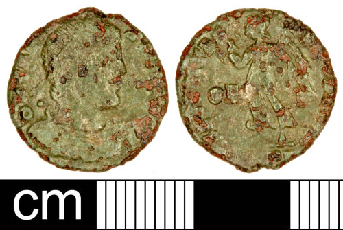 SOM-FCB5A5: Roman Coin: Nummus of the House of Valentinian