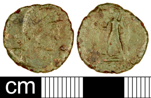 SOM-FCCB93: Roman Coin: Nummus of the House of Valentinian