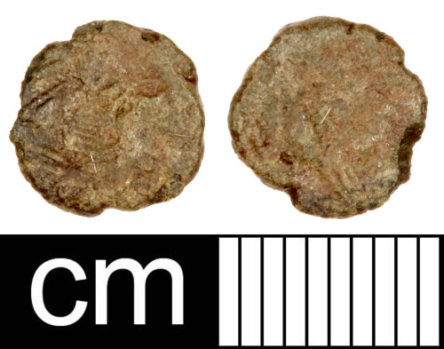 SOM-FF2F54: Roman Coin: Contemporary Copy of a Nummus of Constantius II
