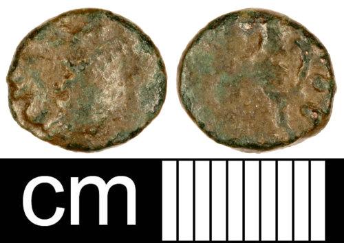 SOM-FF3C52: Roman Coin: Unidentified Barbarous Radiate