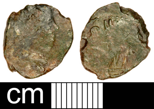 SOM-FF4847: Roman Coin: Contemporary Copy of a Nummus of the House of Constantine