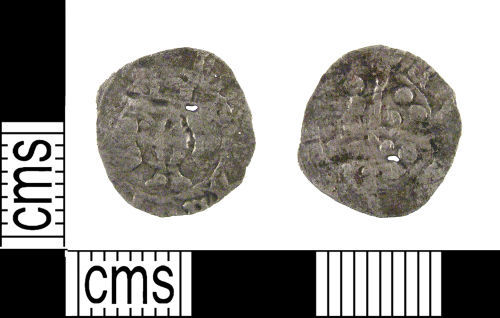 LON-2A9943: A medieval silver penny of Edward I-III dating AD 1272-1377.
