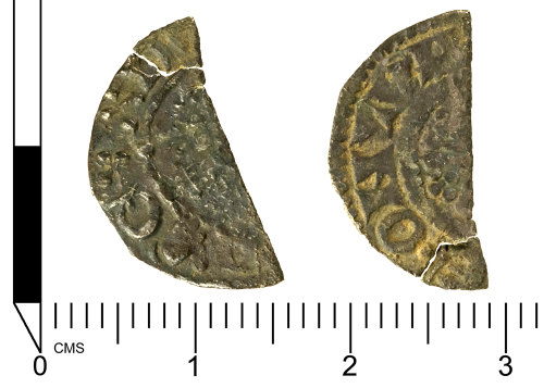 SWYOR-0612EC: Medieval coin: a short cross cut halfpenny of Henry III