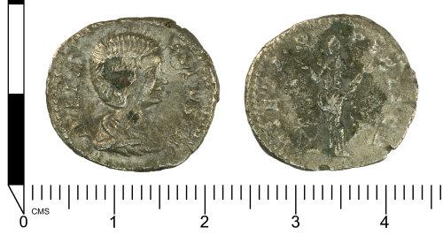 SWYOR-12DE18: Roman silver coin: denarius of Julia Domna