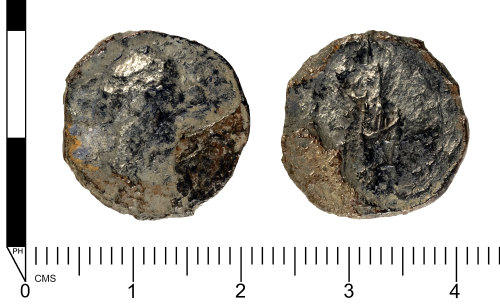 SWYOR-15E207: Roman silver coin; illegible denarius