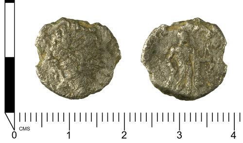 SWYOR-1F2349: Roman coin; a denarius of Septimius Severus; HERCVLI DEFENS