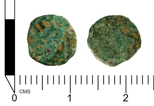 SWYOR-34C8D5: Roman Coin: barbarous radiate probably