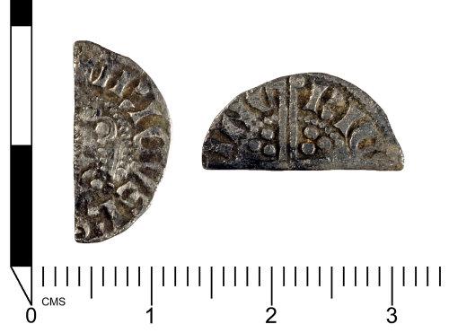 SWYOR-353A95: Medieval Coin: Silver Cut Half Penny of Henry III, Class 2-3a