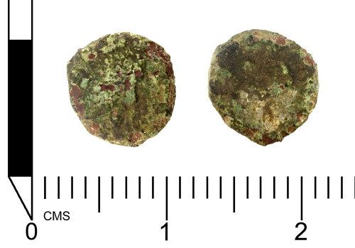 SWYOR-6C1CD5: Roman coin; contemporary copy of a nummus of the House of Constantine