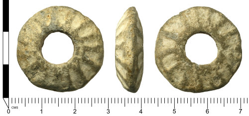 SWYOR-BA7277: Medieval spindle whorl; Form C