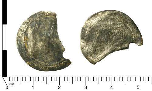 SWYOR-E3D817: Post Medieval coin of Elizabeth I; sixpence