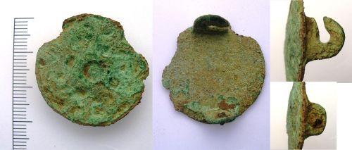 LEIC-CD4F45: Copper alloy Borre style brooch