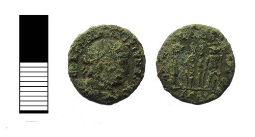 LEIC-55DE7C: Roman coin: nummus of the House of Constantine
