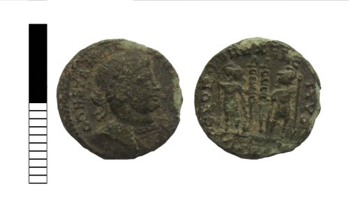 LEIC-A81F4D: Roman coin: nummus of the House of Constantine