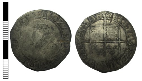A resized image of Post medieval coin: shilling of Elizabeth I