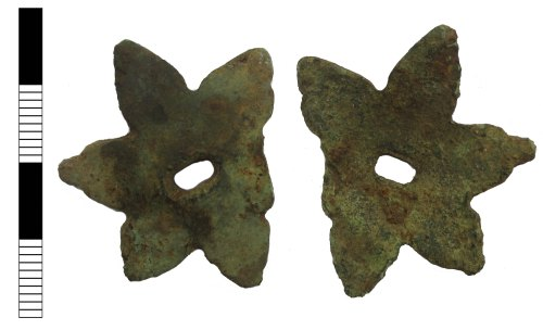LEIC-83F48A: Post medieval spur fragment