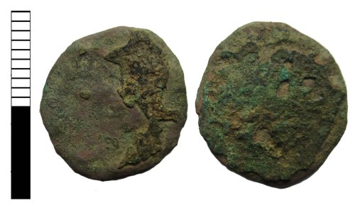 LEIC-B6EEFE: Roman coin: nummus of uncertain ruler