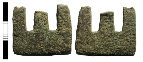 A resized image of Early medieval girdle hanger fragment