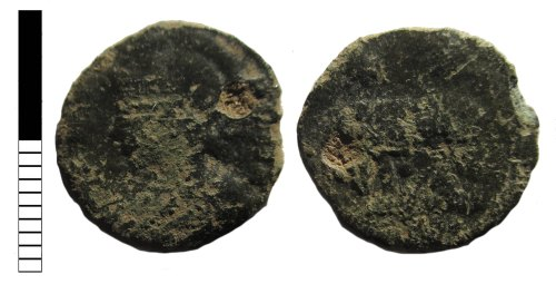 LEIC-6F6E71: Roman coin: nummus of the House of Constantine