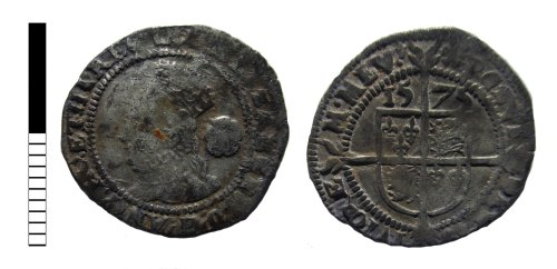 LEIC-17B357: Post medieval coin: threepence of Elizabeth I