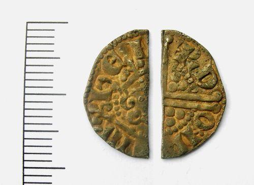 LEIC-F068B1: Henry III cut halfpenny