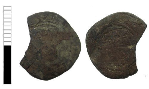 LEIC-B7219E: Post medieval coin: halfgroat of Charles I (possibly)