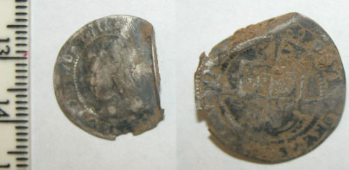 CAM-0F5E64: Post medieval coin: Sixpence of Elizabeth I