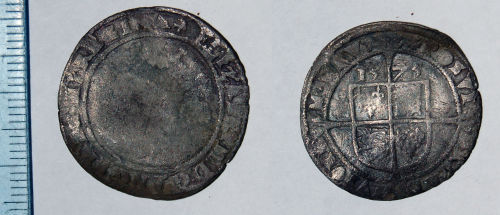 CAM-0F7303: Post medieval coin: Sixpence of Elizabeth I