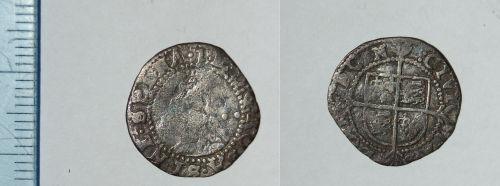 CAM-10D5D7: Post medieval coin: Halfgroat of Elizabeth I