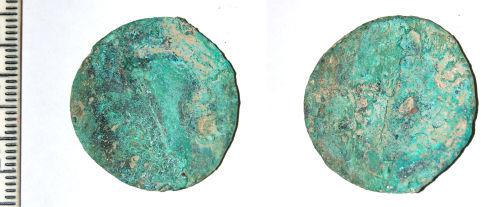 CAM-2E0CE1: Roman coin: Dupondius or As