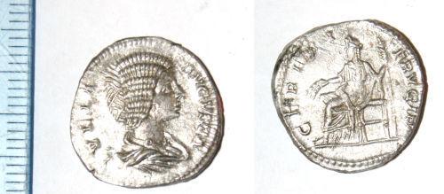 CAM-565B21: Roman coin: Denarius of Julia