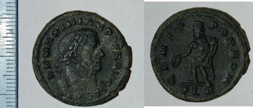 CAM-7DB9B3: Roman coin: Nummus of Maximianus