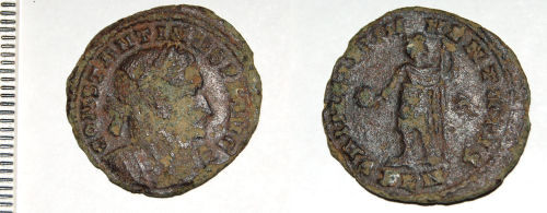 A resized image of Roman coin: Nummus of Constantine I