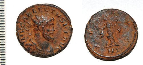 CAM-B7B055: Roman coin: Radiate of Allectus
