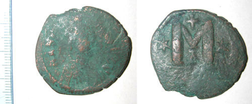 CAM-C730D3: Early medieval coin: Follis of Anastasius I