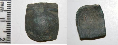 CAM-EA64E3: Early medieval cruciform brooch