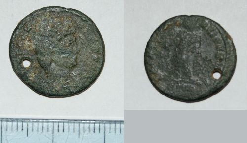 CAM-FC44A6: Roman coin: Nummus of House of Valentinian