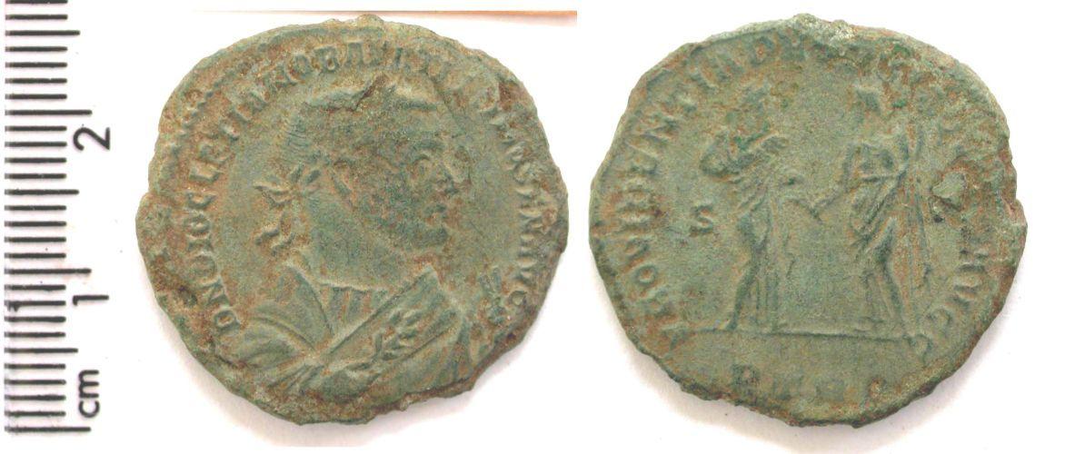 BERK-8F3662: Roman coin : nummus of Diocletian