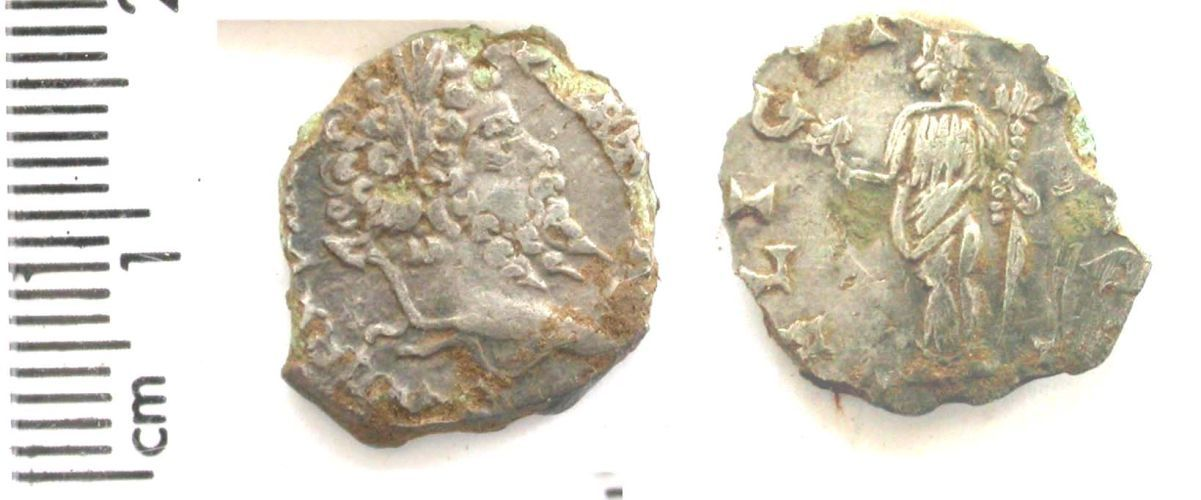 A resized image of Roman coin : denarius of Septimius Severus