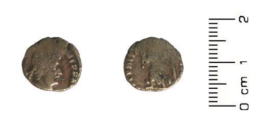 HESH-020441: Roman Coin:reduced siliquae of Valentinian, Valens or Gratian