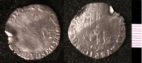 HESH-096203: Charles I Sixpence 1636-1638