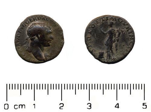 HESH-0C4596: Roman Coin: Silver Denarius of Trajan
