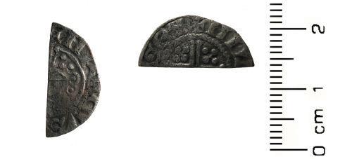 HESH-187A34: Medieval Coin: Cut Half Penny of John