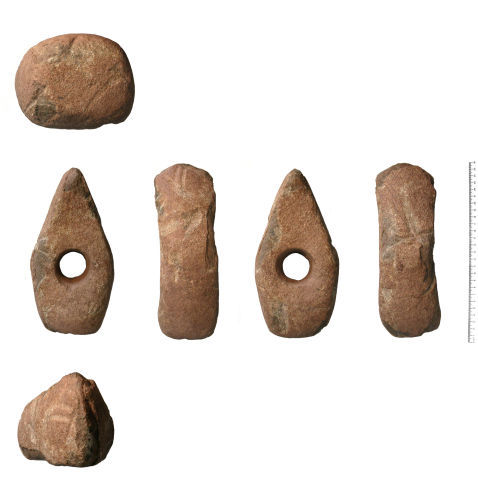 HESH-191F76: Late Neolithic - Early Bronze Age: Battle Axe Perforated Axe Hammer
